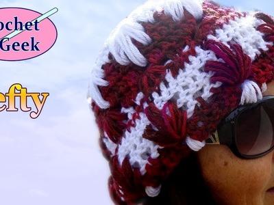 Splash Crochet Hat - Left Hand Version Crochet Geek