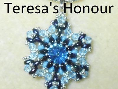 Teresa's Honour Pendant Beading Video Tutorials by Ezeebeady