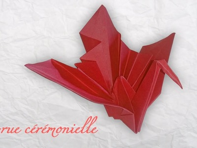 Tuto Origami ! La grue cérémonielle. The ceremonial crane.