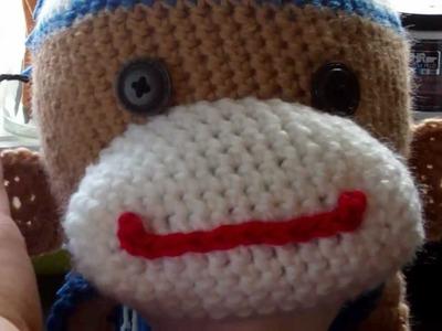 Tutorial-Crochet Boy Sock Monkey Beanie (Part 8 and final)