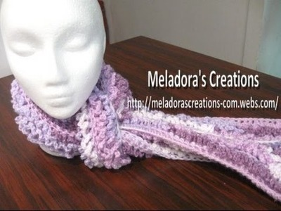Twisted Loop Scarf - Left Handed Crochet Tutorial - (Astrakhan Stitch)