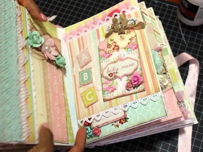 2015 Baby Girl Mini Album Scrapbook