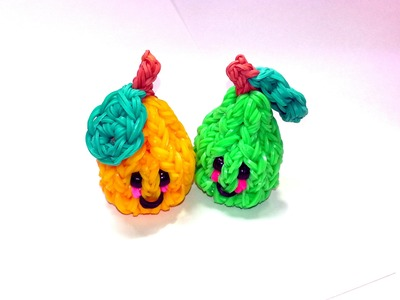 3-D Happy Pear Tutorial by feelinspiffy (Rainbow Loom)