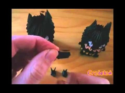 3D origami Batman part 3 of 3