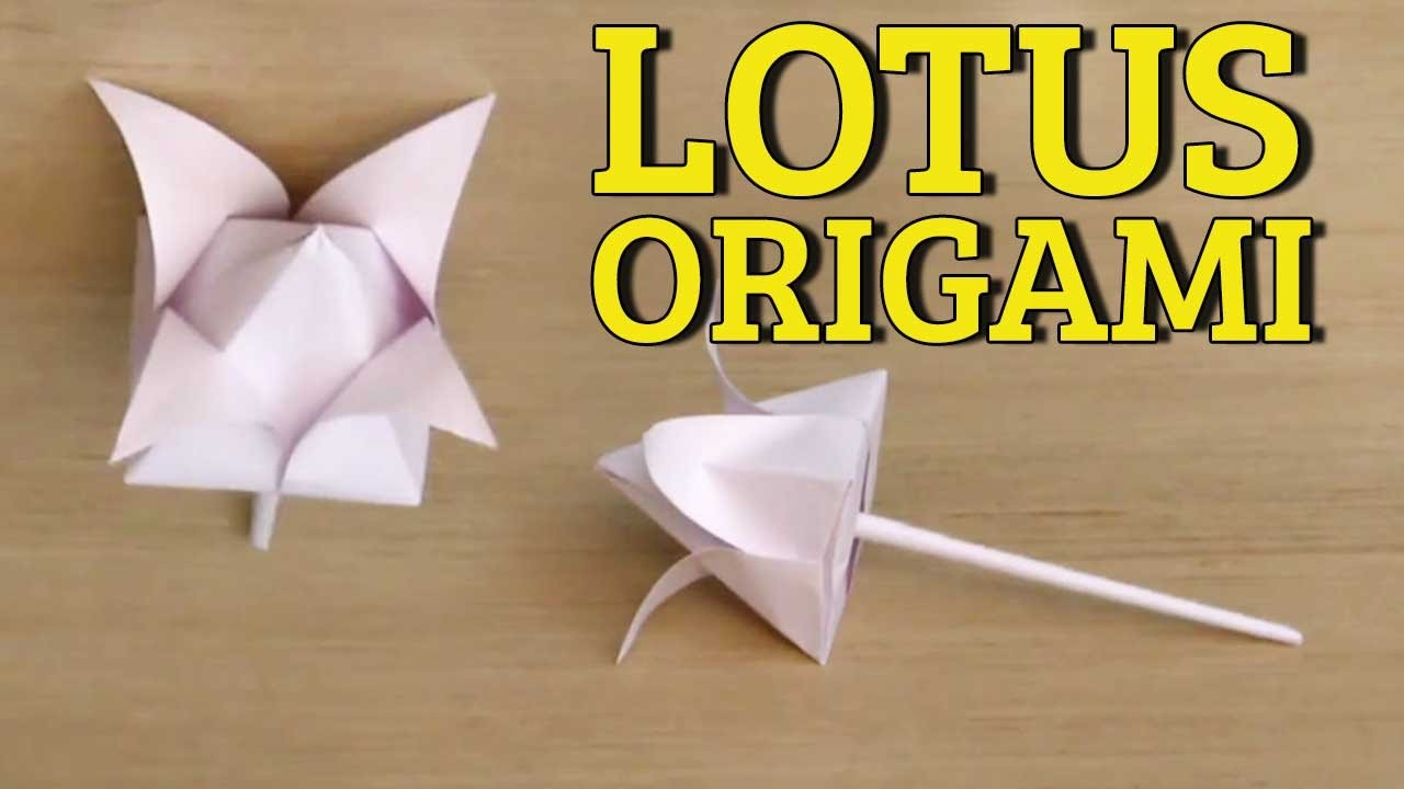 3d Origami Flowers Tutorial Easy Paper Flower Folding Origami
