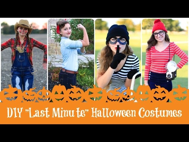 4 DIY Last-Minute Halloween Costumes | Brooklyn & Bailey