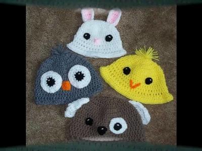 Amigurumi Hats for Spring and Summer (crocheted hats)