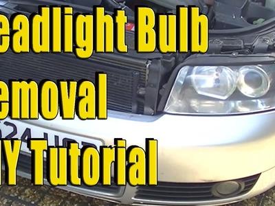 Audi A4 B6 Headlight Removal. Bulb Removal DIY Tutorial