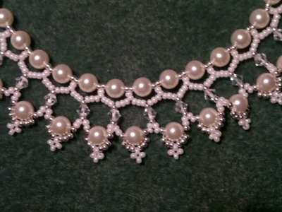 Beading4perfectionist : Swarovski 6mm pearl and 4mm bicone necklace beading tutorial