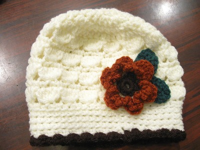 Cluster Stitch Beanie REVISED - Left Handed Crochet Tutorial
