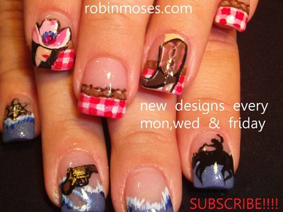 Country and Western Nail Art
