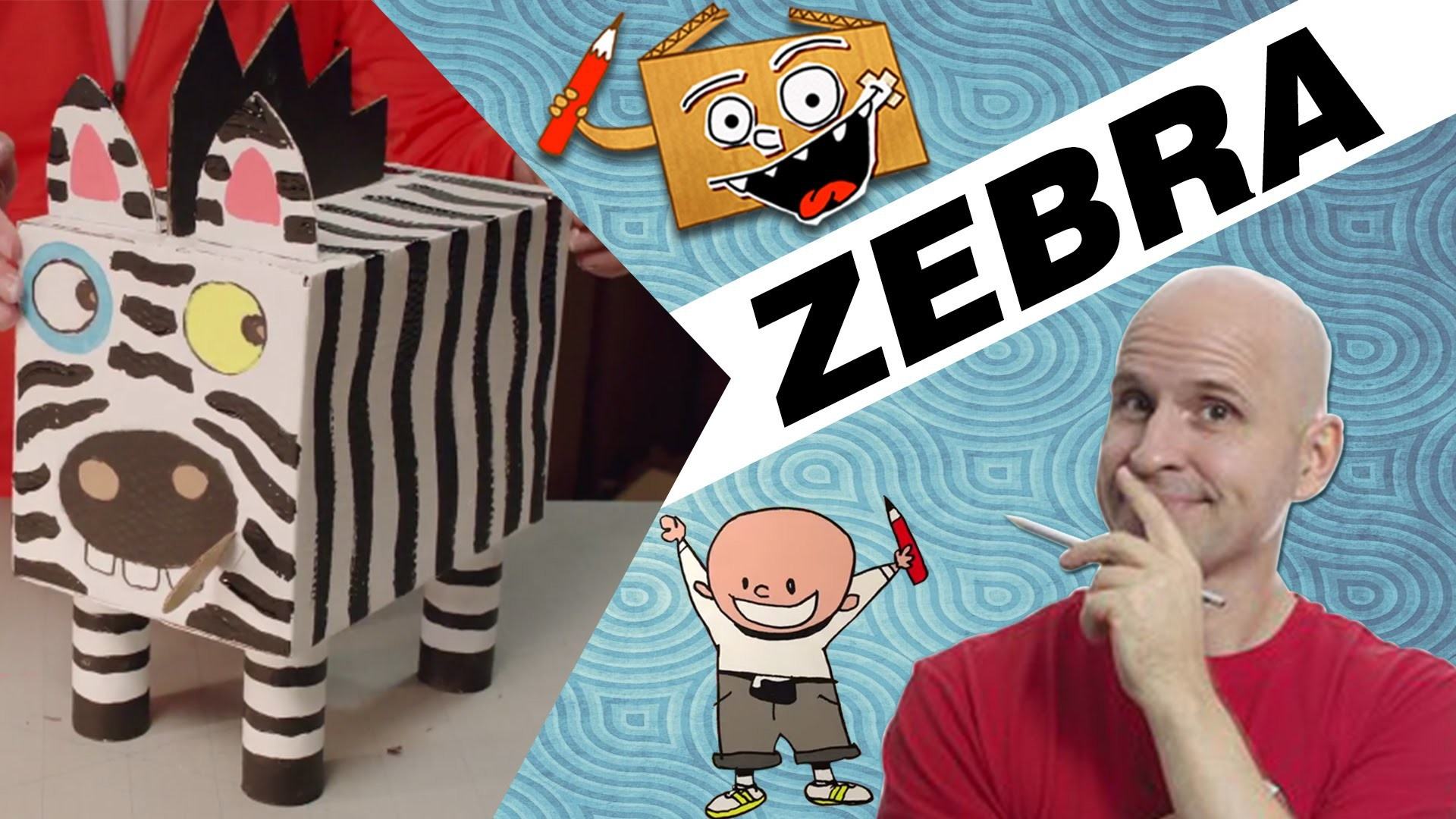 Craft Ideas with Boxes - Zebra   DIY on BoxYourSelf