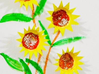 Create Pretty Sunflower Paper Cup Wall Art - DIY Home - Guidecentral