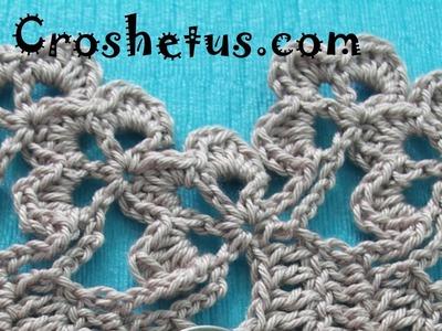 Crochet 3 Petal 3 Flower Edging
