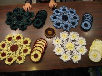 Crochet Doily Coaster sets