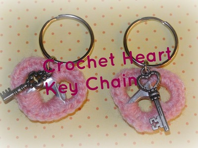 Crochet Pop Tab Heart Key Chain