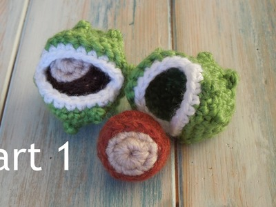 (crochet) Pt1: How To Crochet a Horse Chestnut Conker - Yarn Scrap Friday