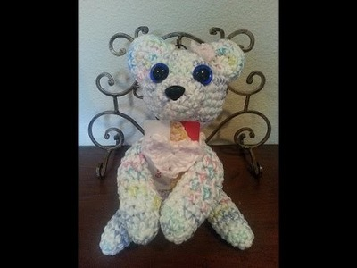 Crochet quick and easy beginner Rainbow Bear with magnet Paws DIY tutorial