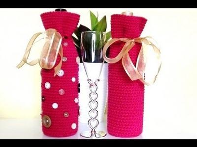 Crochet Wine Bottle Cover - Crochet Wine Bottle Bag
