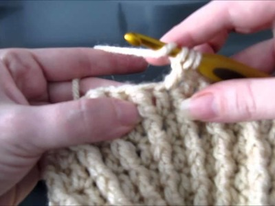 Decrease form of double crochet with front post treble crochet stitch