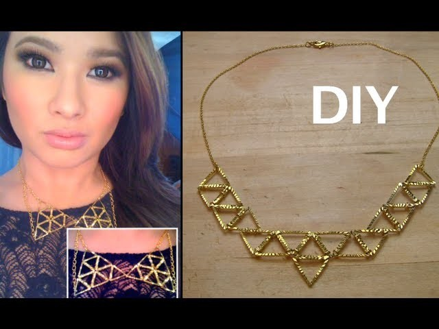 DIY 2 Geometric Necklaces  (Collar & Statement)