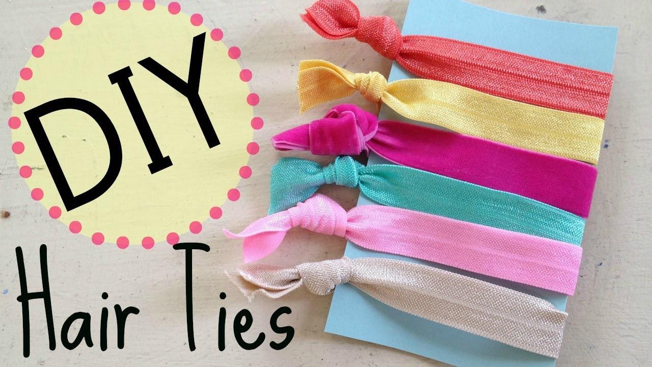 DIY Creasless Hair Ties  | No Sew | by Michele Baratta