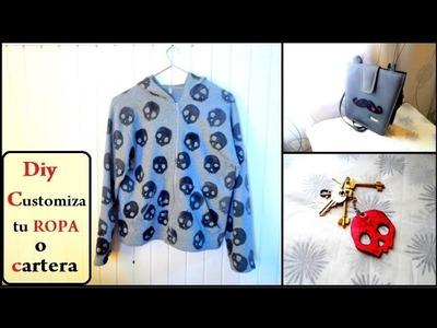 Diy customiza tu ropa cartera etc. customize your clothes
