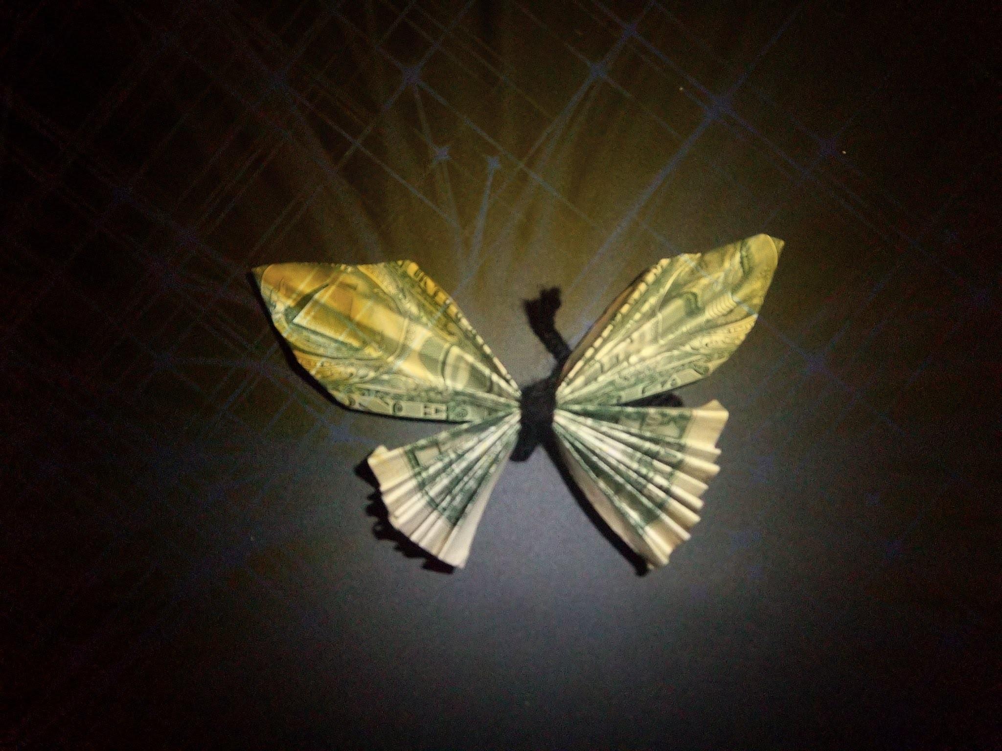 DIY Dollar Bill Butterfly