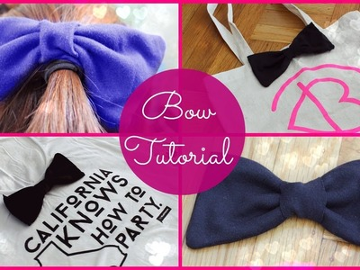 DIY: How to Sew a Bow