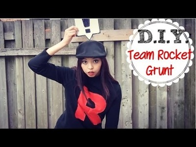 DIY ✂ Last Minute Halloween Costume TEAM ROCKET GRUNT | Enchantelle