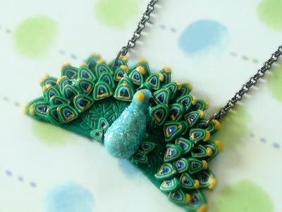 DIY Peacock Necklace (Polymer Clay)
