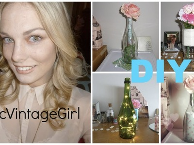 DIY Shabby Chic Wine Bottles l ChicVintageGirl
