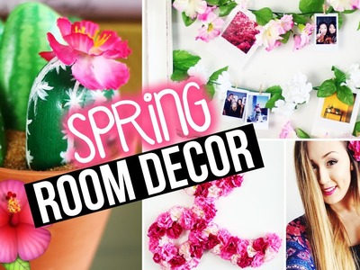 DIY Spring Room Decor & Wall Decor + Tumblr Inspired | LaurDIY