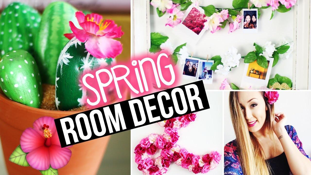 DIY Spring Room Decor & Wall Decor + Tumblr Inspired | LaurDIY