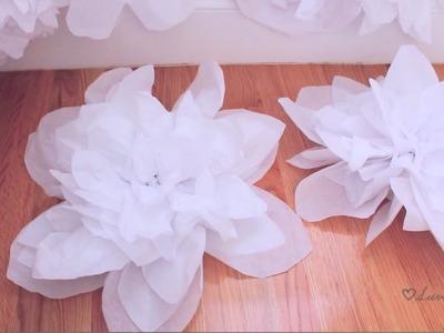 ♡DIY  Tissue flower background pt 2 ♡
