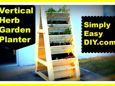 DIY Vertical Herb Garden Planter Box
