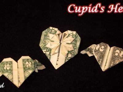 Double Wing Heart from Dollar bill