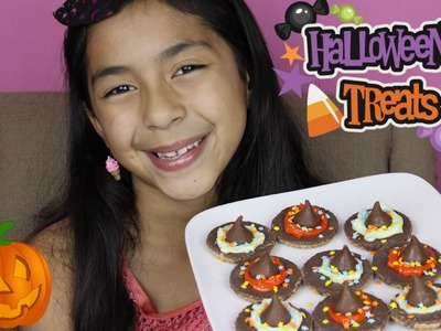 Easy Halloween Treats Hershey's Kisses Witches Hats|Quick Simple Recipes|B2cutecupcakes