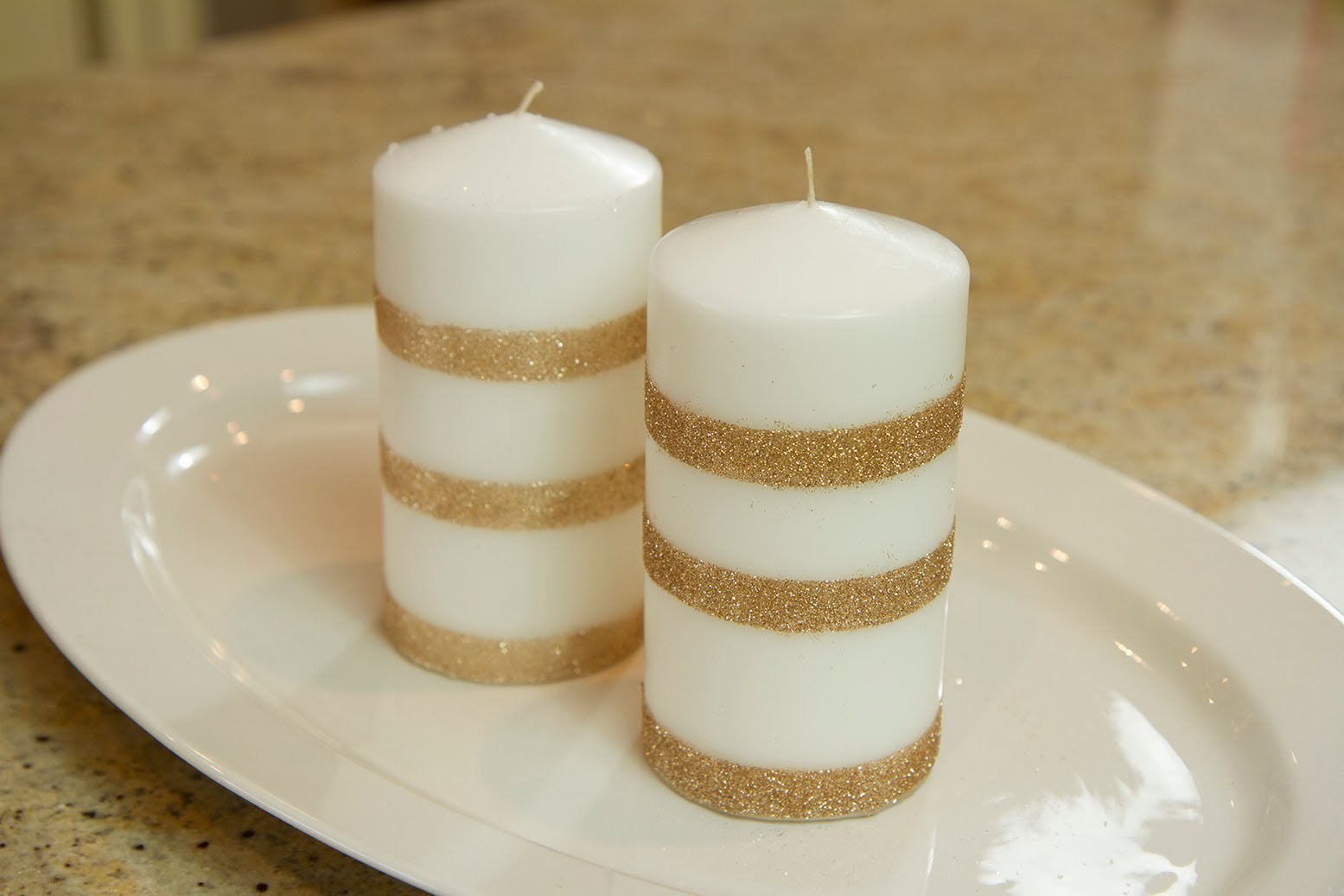 Glitter Candles - Let's Craft with ModernMom - 12 Days of Christmas (Day 9)
