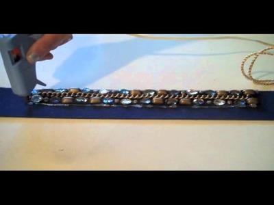 Glitter 'N Glue: DIY Embellished Belt
