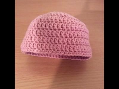 How To Crochet A Simple Newborn Beanie Tutorial