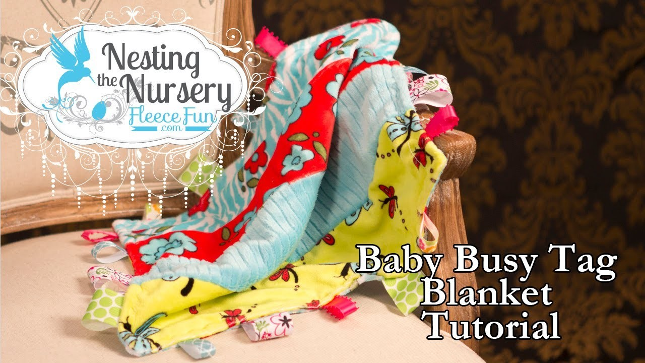 How to make a baby busy tag blanket
