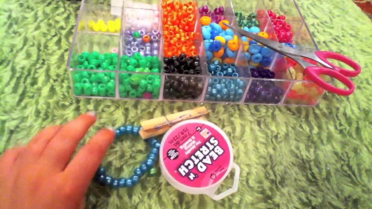 How to make a kandi.pony bead multi cuff