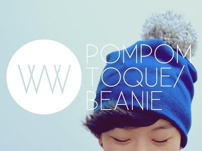 How to Make a Pompom Toque.Beanie