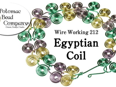 How to Make Wire Egyptian Coil Jewelry (Redone)