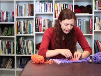 How to Sew a Knit Flower Onto a Scarf : Knitting Tips & Techniques