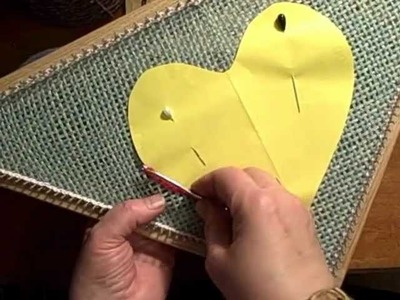 How to work chain stitch embroidery tambour crochet on small loom weaving by Noreen Crone-Findlay