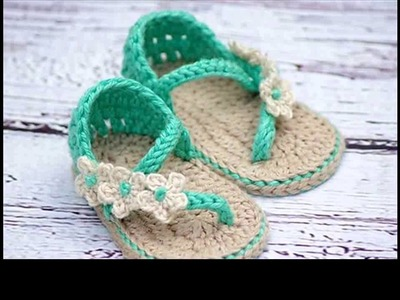 Learn to crochet baby sandals