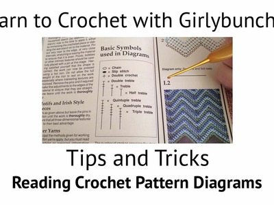 Learn to Crochet with Girlybunches - Tips and Tricks - Reading Crochet Pattern Diagrams
