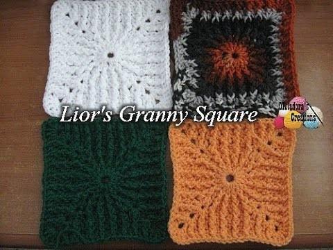 Lior's Granny Square - Left Handed Crochet Tutorial